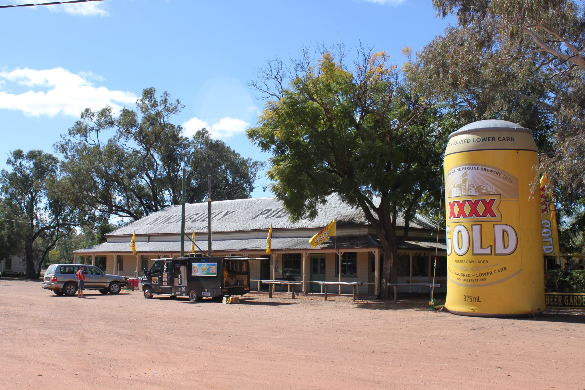 One of Australia's oldest pubs, the Nindigully - affectionately known as 'The Gully'.