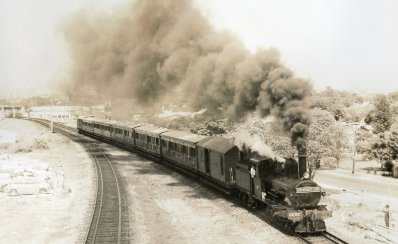 DOWN THE TRACK, THE GLORY DAYS OF THE STEAM TRAIN…